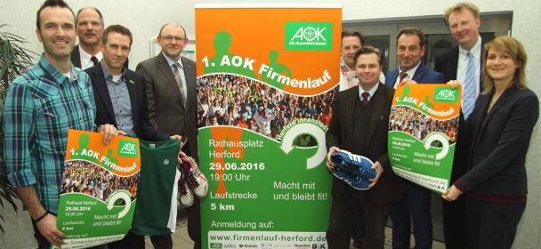 Heimische Unternehmen freuen sich auf ersten AOK-Firmenlauf für den Kreis Herford