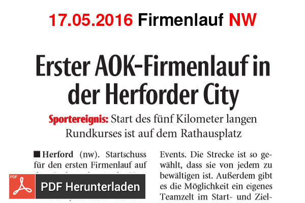Download: Erster AOK-Firmenlauf in der Herforder City